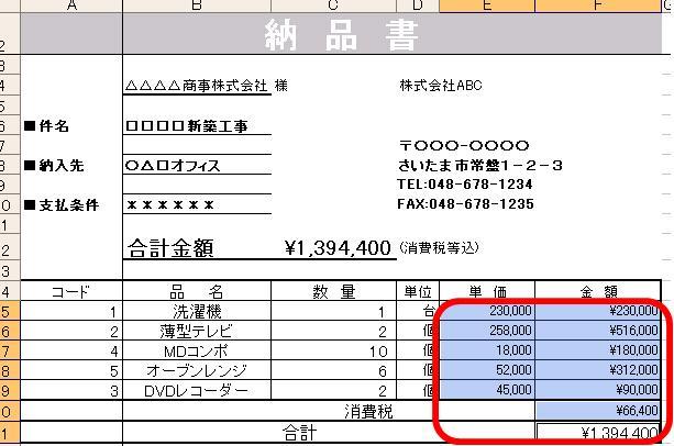 130)¥マークをつけても、数値...